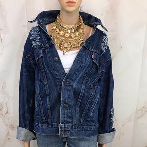 OverSized Vintage Distressed Levi Jacket